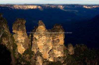 unset on the Blue Mountains, West of Sydney