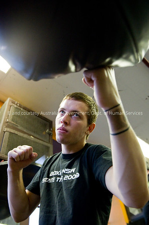 Boxing at the Redfern Gymn, Sydney