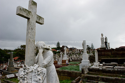 Various images from Waverley Cemetary, Sydney