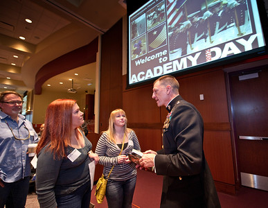 Congressman Frank Wolf's (R-VA 10th Dist) 2012 Academy Day in which high school students visit with members of the various service academies and other related schools to help them better understand the admissions process.  Photo: Greg E. Mathieson Sr. / MAI