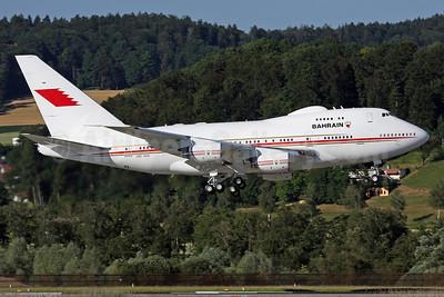 Bahrain Amiri Flight Boeing 747SP-Z5 A9C-HAK (msn 23610) ZRH (Andi Hiltl). Image: 923245.