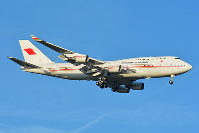 Kingdom of Bahrain (Bahrain Amiri Flight) Boeing 747-4P8 A9C-HMK (msn 33684) BSL (Paul Bannwarth). Image: 948350.