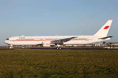 Bahrain Amiri Flight Boeing 767-4FS ER A9C-HMH (msn 34205) DUB (Greenwing). Image: 924107.