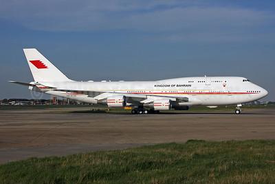 Kingdom of Bahrain (Bahrain Amiri Flight) Boeing 747-4F6 A9C-HAK (msn 28961) LHR (SPA). Image: 937542.