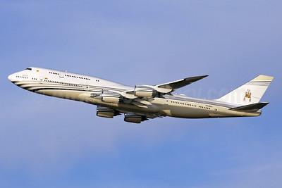 Brunei Royal Flight (Brunei Government) Boeing 747-8LQ V8-BKH (msn 41060) LHR (SPA). Image: 940304.