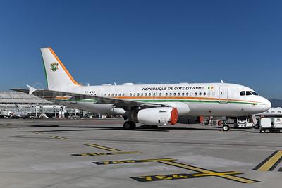 Republique de Cote d'Ivoire Airbus A319-133 (ACJ) TU-VAS (msn 2192) NCE (Ton Jochems). Image: 946935.