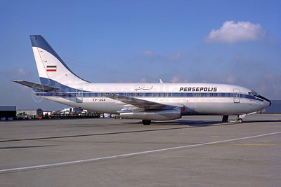 Persepolis (Iran) Boeing 737-286 EP-AGA (msn 21317) (Iran Air colors) ORY (Bruce Drum Collection). Image: 952731.