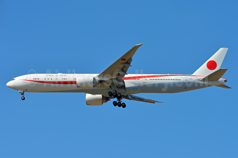 Japan Government (JASSDF) Boeing 777-3SB ER N511BJ (msn 62440) BSL (Paul Bannwarth). Image: 937457.