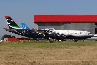 Muammar Gaddafi's former presidential airplane