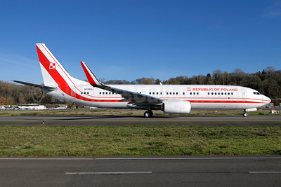 Republic of Poland Boeing 737-800 WL N785BJ (0112) (msn 63990) BFI (Steve Bailey). Image: 944684.