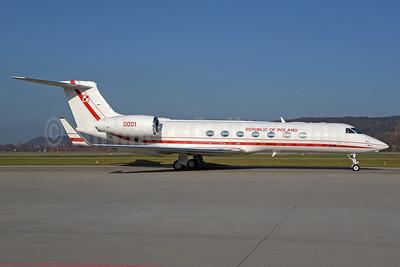Republic of Poland Gulfstream G550 0001 (msn 5547) ZRH (Rolf Wallner). Image: 940596.