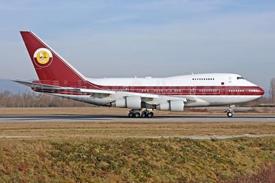 Qatar Amiri Flight Boeing 747SP-21 VP-BAT (msn 21648) BSL (Pascal Simon). Image: 947199.