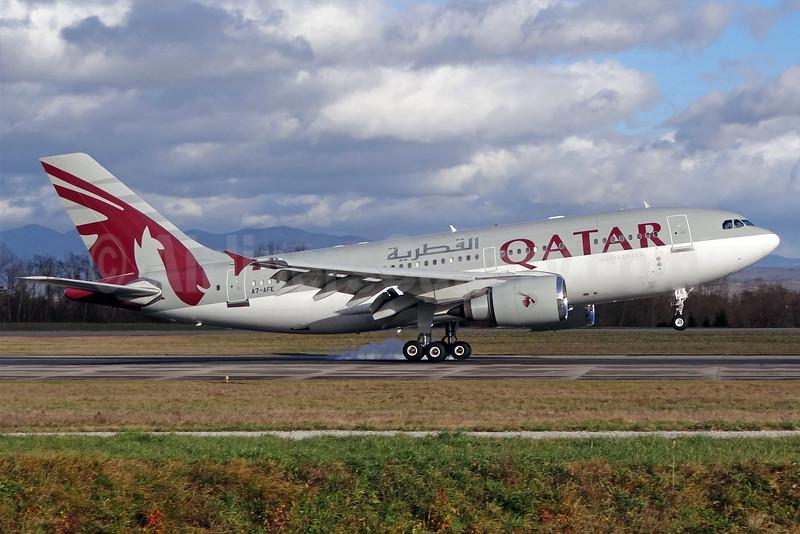 Qatar Amiri Flight Airbus A310-308 A7-AFE (msn 667) BSL (Paul Bannwarth). Image: 910485.