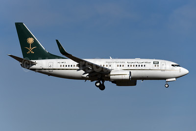 Kingdom of Saudi Arabia Boeing 737-7AJ WL (BBJ) HZ-MF2 (msn 33499) ZRH (Rolf Wallner). Image: 949224.