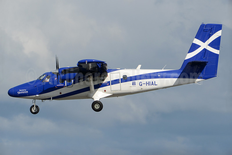 Scottish Government (Loganair) Viking Air DHC-6-400 Twin Otter G-HIAL (msn 896) GLA (Robbie Shaw). Image: 934303.