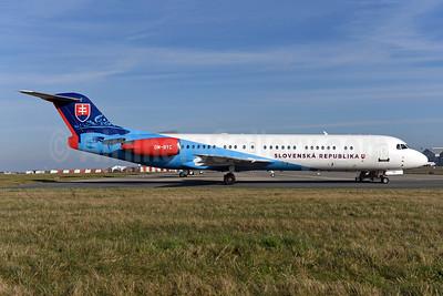 Slovenska Republika (Slovak Republic) Fokker F.28 Mk. 0100 OM-BYC (msn 11368) BRU (Ton Jochems). Image: 940984.