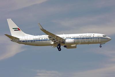 United Arab Emirates (Abu Dhabi Amiri Flight)  Boeing 737-8EC WL (BBJ2) A6-MRM (msn 32450) STN (Keith Burton). Image: 900452.