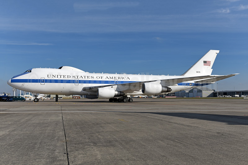 United States of America (U.S. Air Force) Boeing E-4B (747-200B) 31676 (73-1676)(msn 20682) BRU (Ton Jochems). Image: 940982.