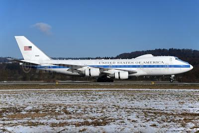 United States of America (U.S. Air Force) Boeing E-4B (747-200B) 50125 (msn 20949) ZRH (Rolf Wallner). Image: 931139.