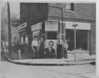 Mayor Biertuempfel and others in front of local Dewey for President campaign headquarters at the corner of Morris Ave. and Johnson Place in 1944 or 1948. This building was recently torn down and the location is currently a vacant lot.