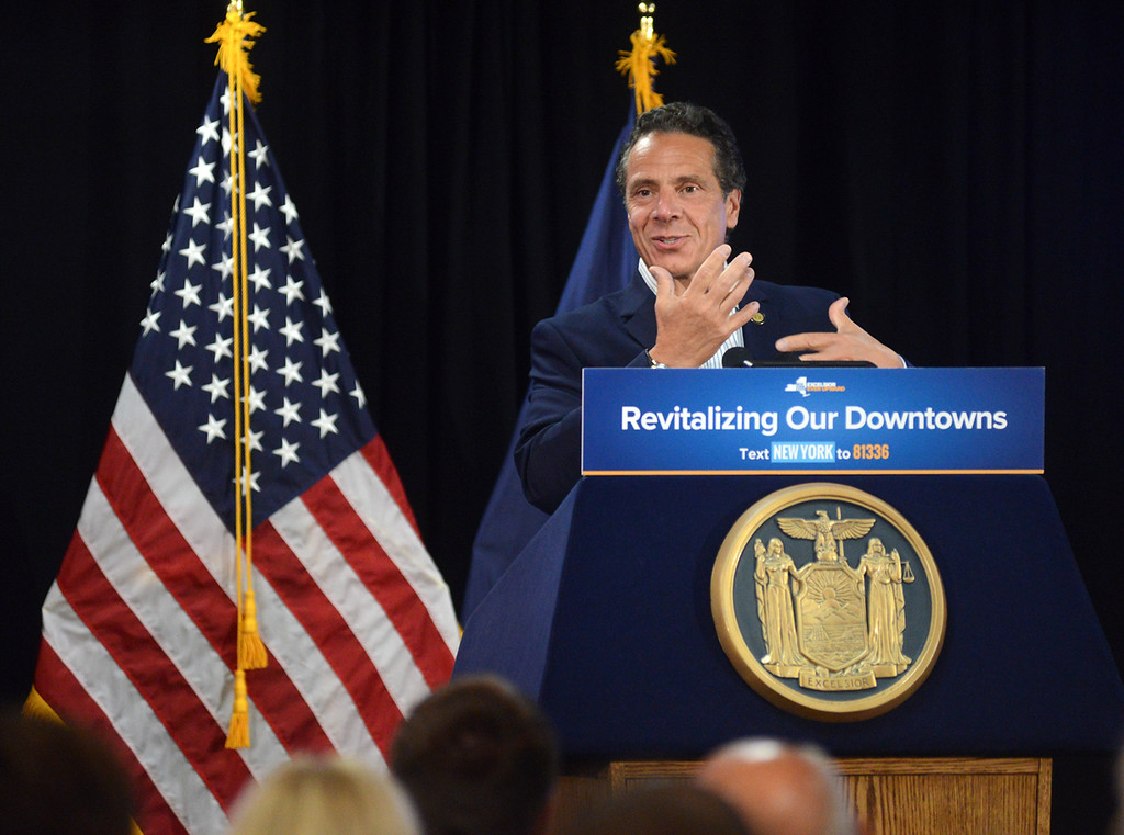 . Tania Barricklo-Daily Freeman Governor Andrew Cuomo talks about how Kingston has brought many aspects together resulting in its success.
