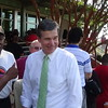 Roy Cooper At Chavis Park Early Voting Site In Raleigh, NC