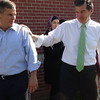 Roy Cooper At Chavis Park Early Voting Site With Josh Stein In Raleigh, NC