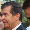 Roy Cooper At Early Voting Event At Wake County State Board Of Elections In Raleigh, NC