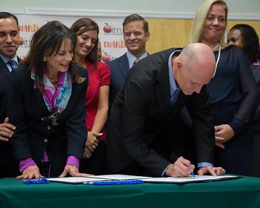 7-23-2015 Citrus Health - Anti Human Trafficking Ceremonial Bill Signing