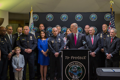 3-19-18 Ceremonial Bill Signing to Combat Opioid Abuse at Boca Raton Police Department