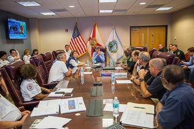 9-9-2017 Hurricane Irma Briefing at Orange County EOC