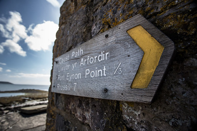 Coast path marker