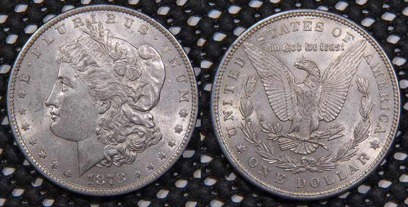 1878-P Morgan<br /> 7 Tail Feathers, Round Breast<br /> The rarer of the 1878 P's<br /> VAM 228<br /> <br /> contact me at leo78256@yahoo.com<br /> $255