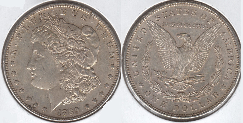 1889-P<br /> very nice coin<br /> AU<br /> $42<br /> <br /> contact me at leo78256@yahoo.com