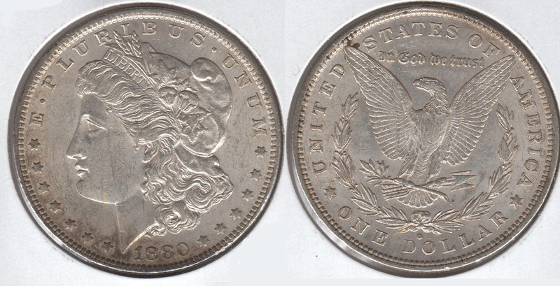 1880-O<br /> AU-MS<br /> $42<br /> <br /> contact me at leo78256@yahoo.com