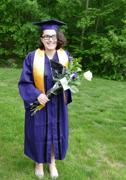Julia graduation pose 1