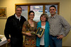 Carlie Breen winner of the Deans Cup (Graduating class 2008) with the award and her family.
