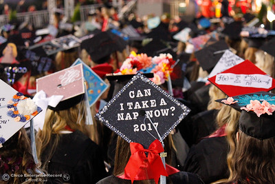Chico State's commencement ceremony for the College of Communication and Education; College of Natural Sciences Friday May 19, 2017 at Chico State in Chico, California.  (Emily Bertolino -- Enterprise-Record)