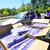 KRISTOPHER RADDER — BRATTLEBORO REFORMER<br /> Brattleboro Union High School seniors drove through the school's parking lot to waving teachers as they were able to pick up things they needed for graduation on Friday, May 22, 2020.