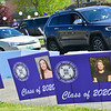 KRISTOPHER RADDER — BRATTLEBORO REFORMER<br /> A long line of vehicles filled with seniors arrive at Brattleboro Union High School, in Brattleboro, Vt., pick up their materials for graduation on Friday, May 22, 2020.
