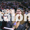 The class of 2017 walks the stage at graduation at the UNT Colosseum.  Denton, Texas on 5/31/17. (Campbell Wilmot / The Talon News)