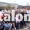 Top 10 students pose for photoshoot at  in Argyle, Texas on Wednesday. (Kirby Reyes) (Kirby Reyes/The Talon News)