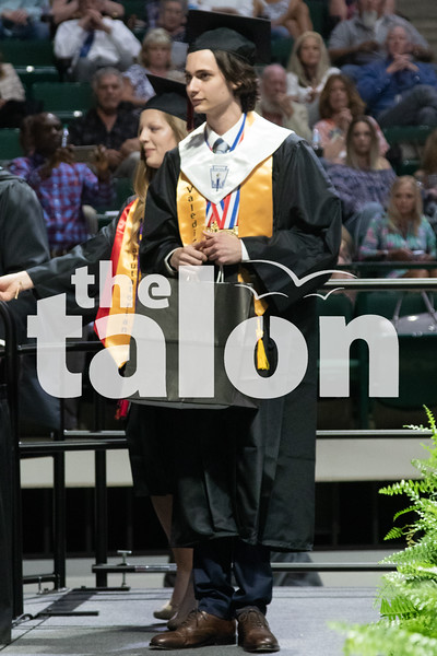 The class of 2019 graduates at the UNT Coliseum at UNT in Denton, Texas, on May 21, 2019. (Jaclyn Harris | The Talon News)