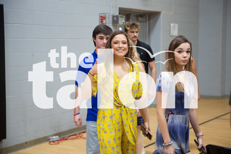 The class of 2019 practices at Graduation Rehearsal at Argyle High School in graduation day. (Jordyn Tarrant / The Talon News)