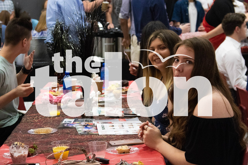 The seniors celebrate their graduation by having breakfast with their class on May 21, 2019. (Campbell Wilmot/ The Talon News).