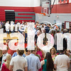Seniors attend the annual rose ceremony and slideshow on 5-21-2019 (Jacob Lormand/The Talon News)