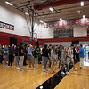 The class of 2021 practices one last time on May 17 at AHS in preparation for their official ceremony at the Gaylord Texas on May 18, 2021.  (The Talon News | Stacy Short & Josh Fritz)