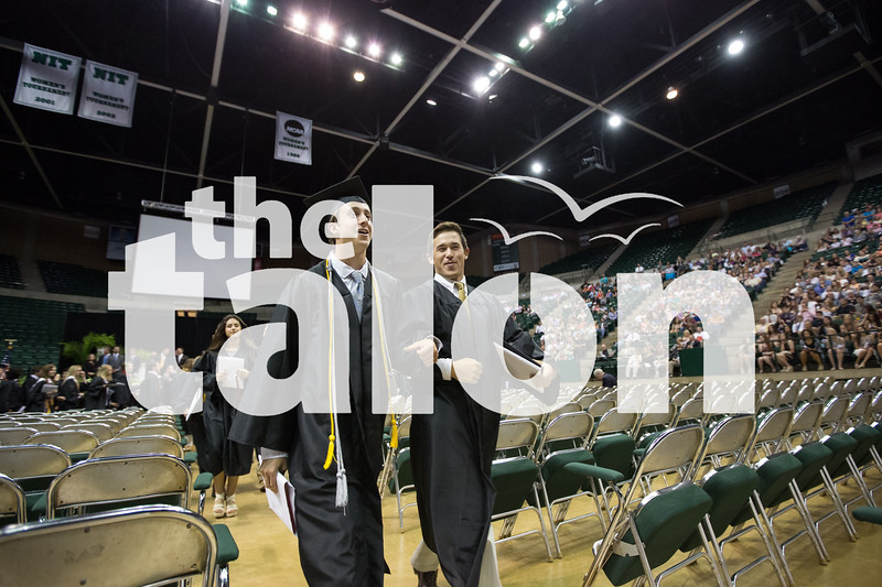 Senior students attend graduation at University of North Texas in Denton, Texas.