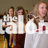 Seniors practice their graduation line up at Argyle High School on June 1, 2015. (Photo by Annabel Thorpe/ The Talon News)