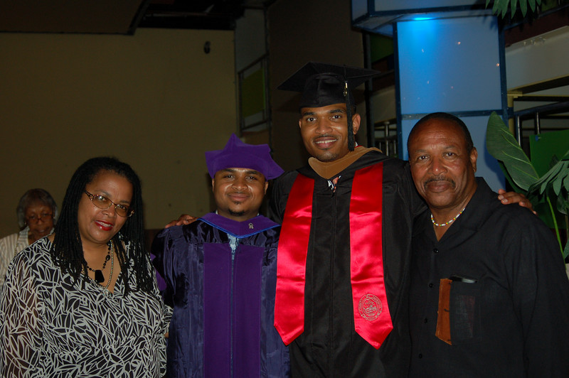At the graduation party:  The parents and the graduates:  Isidra, Jaaye, Ayo and Kwaku<br /> <br /> Photo by ??